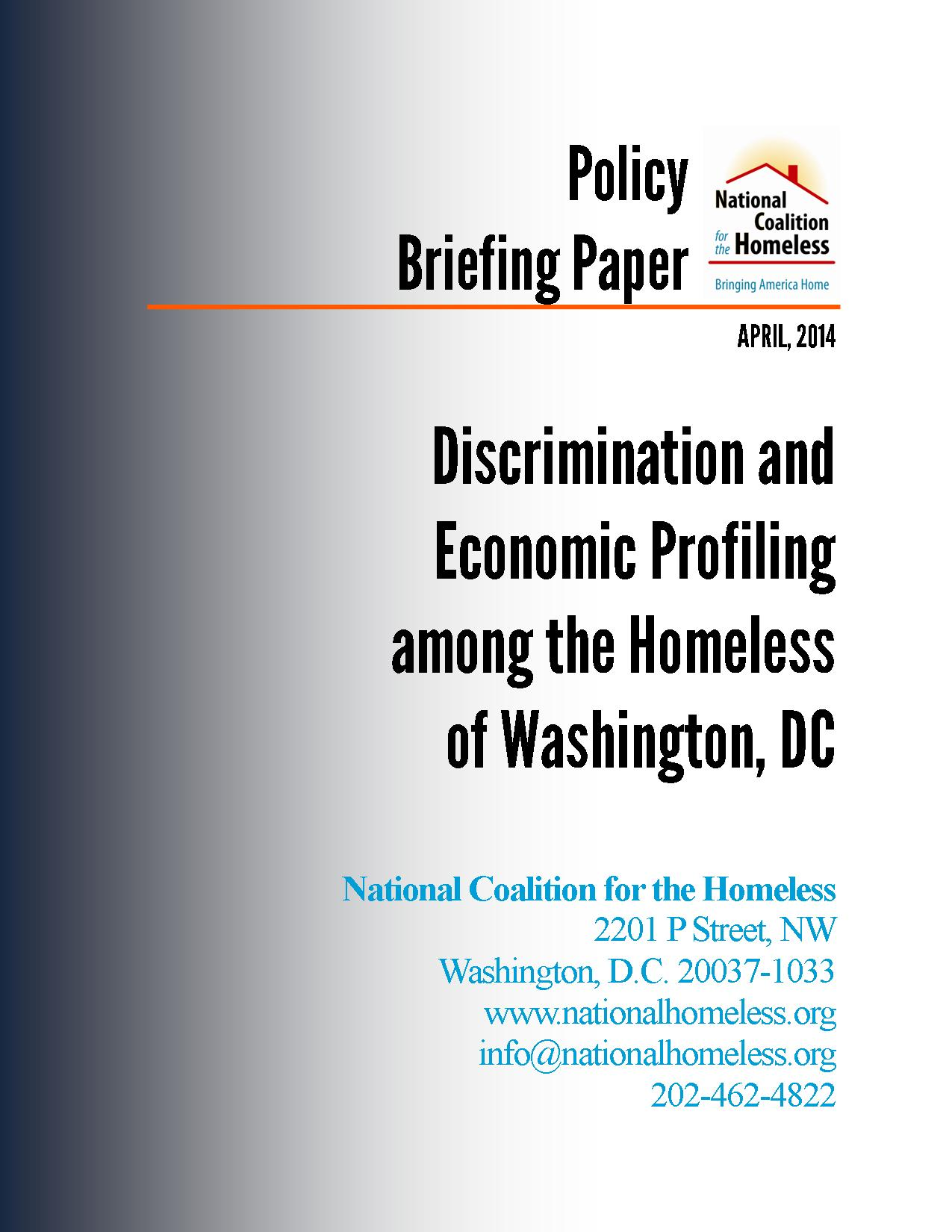 Discrimination and Economic Profiling Report