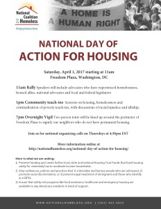 Day of Action for Housing DC April 1 2017