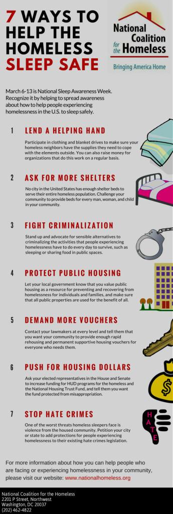 7 ways to help the homeless sleep safe