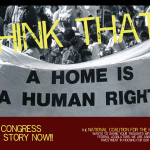 Housing is Human Right Postcard Front
