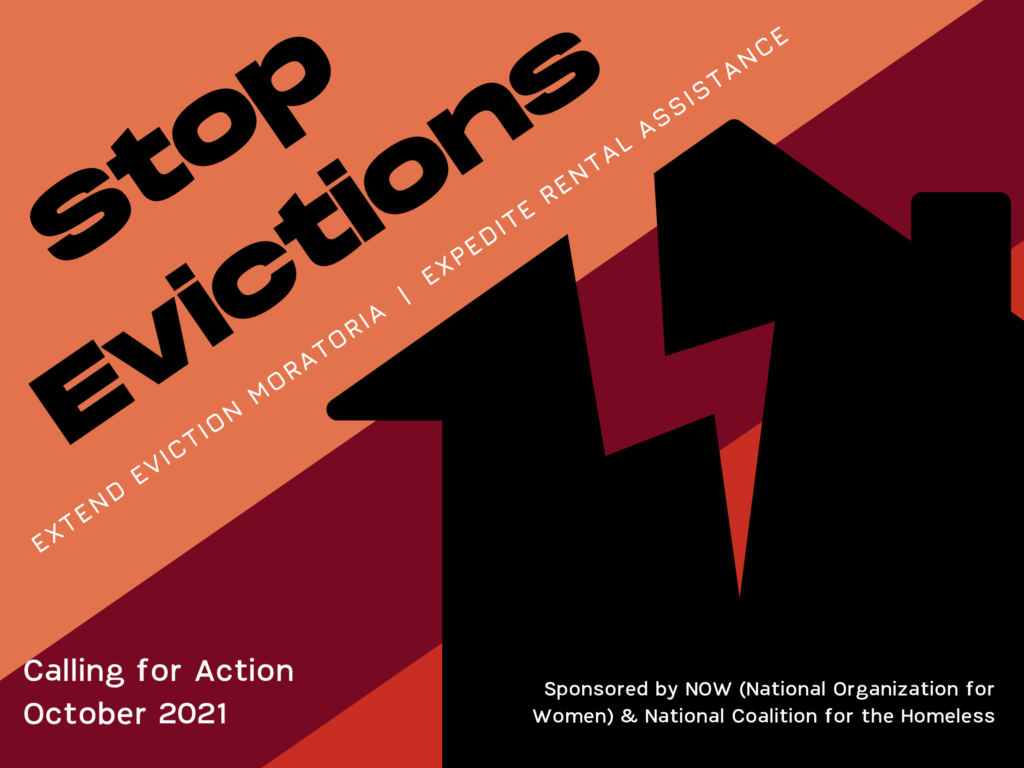 National Organization for Women and National Coalition for the Homeless call for addressing the emergency of evictions